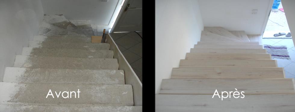 R novation escalier couleurs et coloris c rus - Blanc de ceruse ...