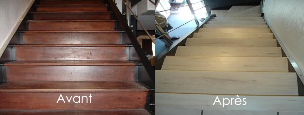 r novation escalier couleurs et coloris c rus. Black Bedroom Furniture Sets. Home Design Ideas