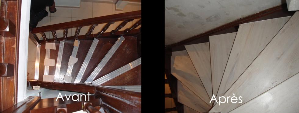 Rénovation escalier:Couleurs et coloris Cérusé