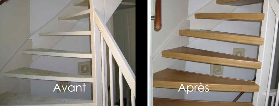 r novation escalier couleurs et coloris ch ne. Black Bedroom Furniture Sets. Home Design Ideas