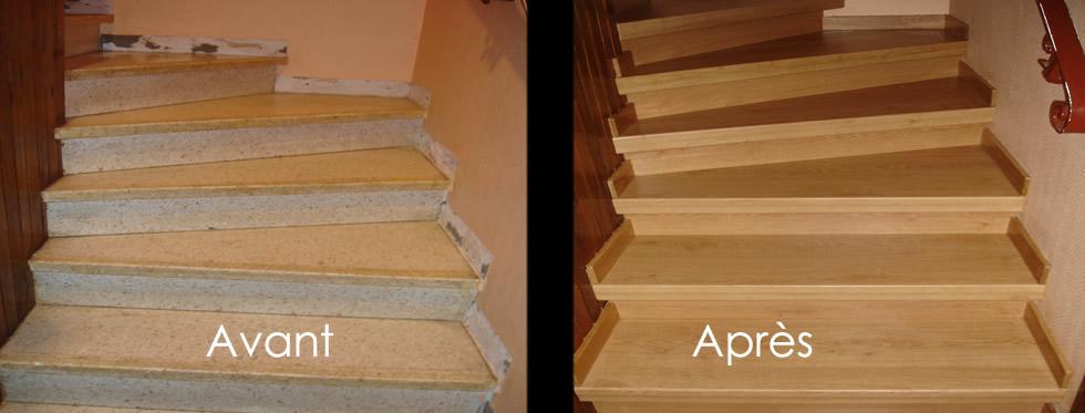 R novation escalier couleurs et coloris ch ne for Relooker un escalier en chene